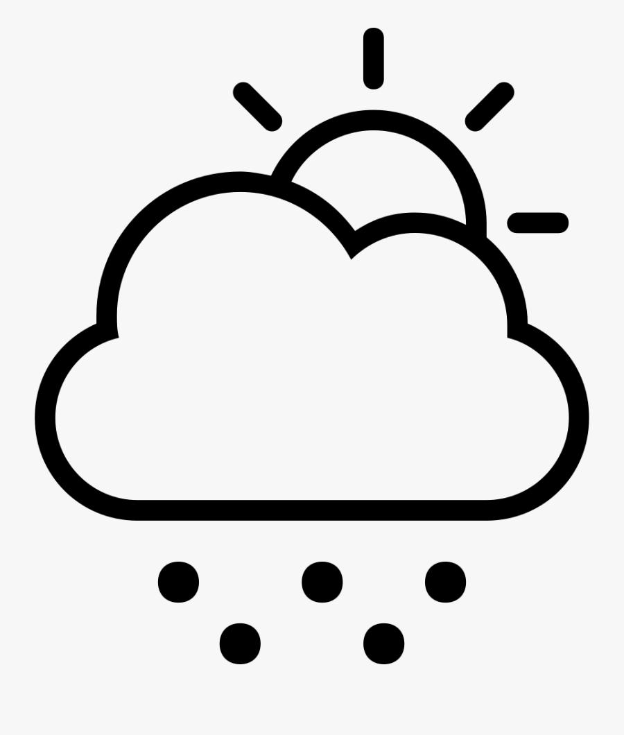 Transparent Sleet Clipart - Simple Rain Cloud Drawing, Transparent Clipart