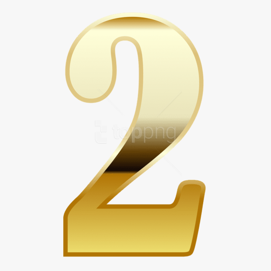 Free Png Download Gold Number Two Clipart Png Photo - Number Two In Gold, Transparent Clipart