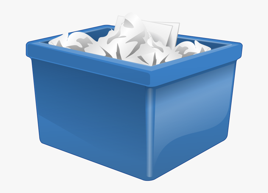 Garbage Clipart Garbage Dumpster - Box Filled With Paper, Transparent Clipart