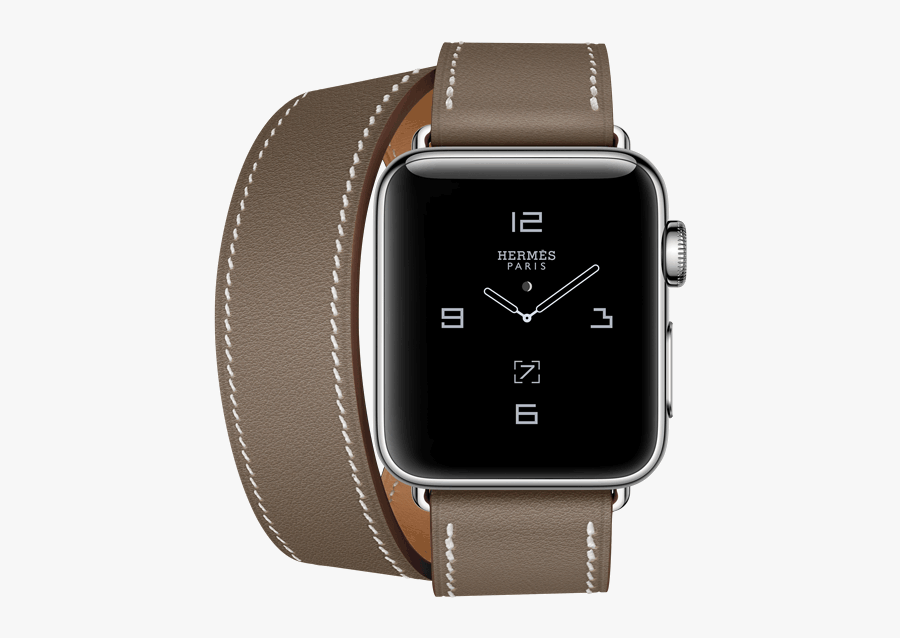 Hermes Apple Watch Grey, Transparent Clipart