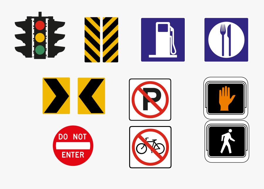 Clipart Road Road Sign - Road Signs Color Png, Transparent Clipart