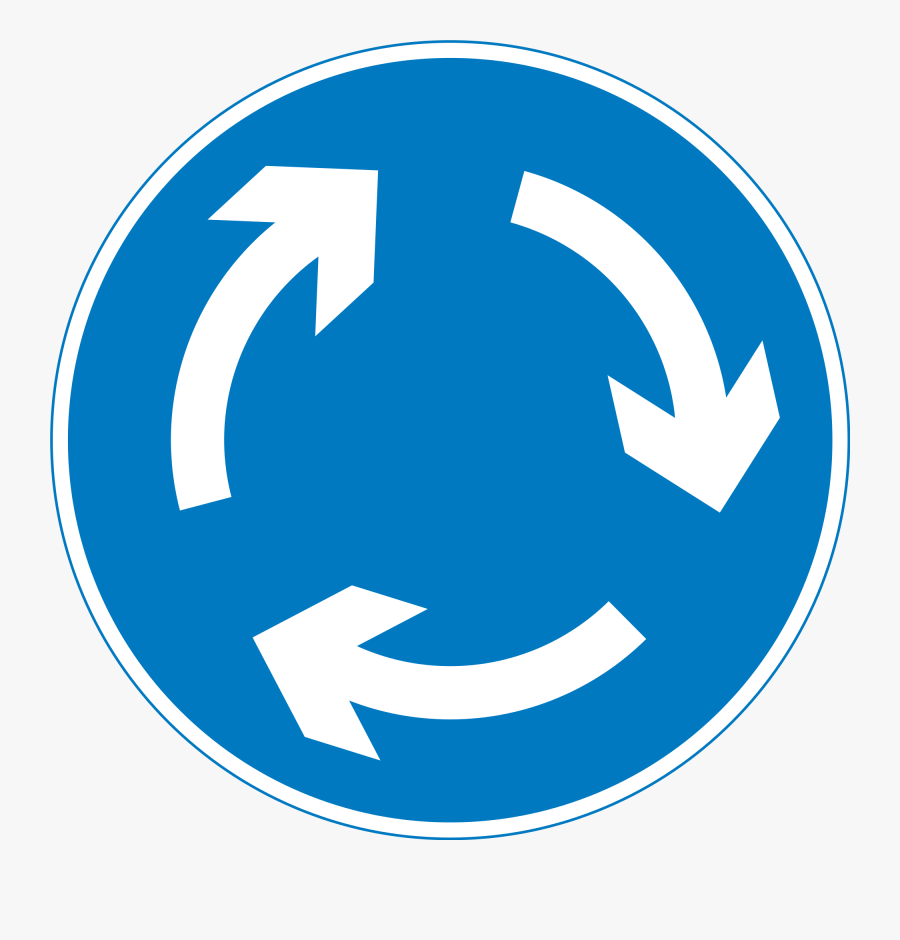 Traffic Signs Printable - Uk Road Signs Roundabout, Transparent Clipart