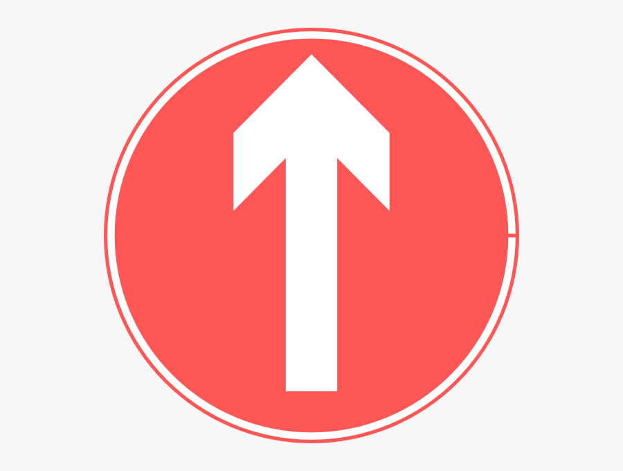 Ahead Only Road Sign, Transparent Clipart