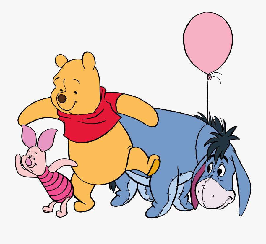 Roommates Disney Winnie The Pooh Eeyore Giant Wall - Winnie The Pooh Eeyore And Piglet, Transparent Clipart