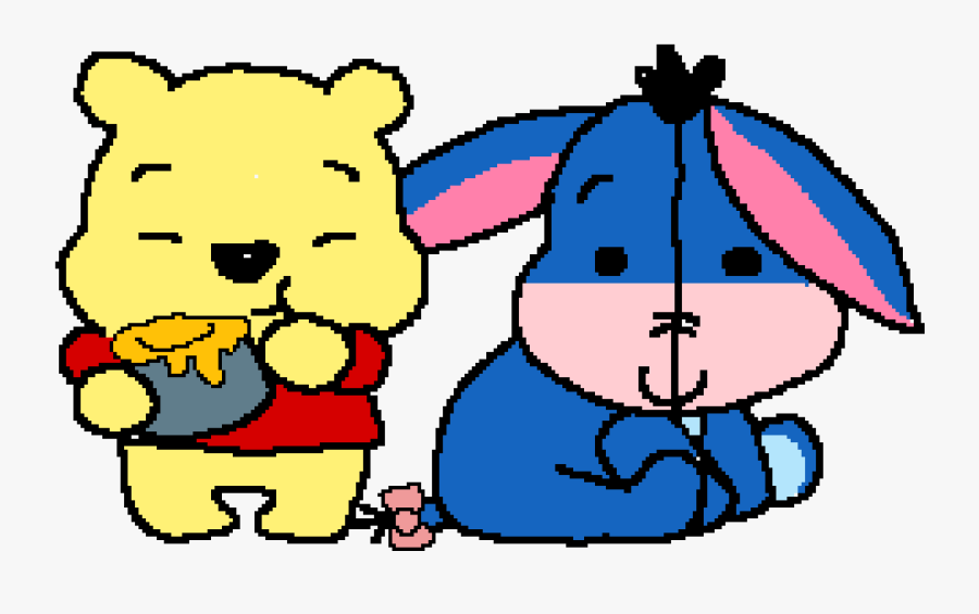 Winnie The Pooh And Eeyore - Cute Winnie The Pooh, Transparent Clipart
