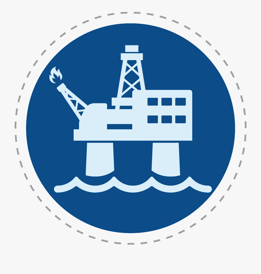 Oil Clipart Oil Derrick - Oil Rig Icon Blue, Transparent Clipart