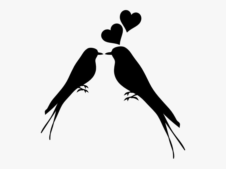 Birds Kissing Clip Art At Clk - Transparent Background White Love Png, Transparent Clipart