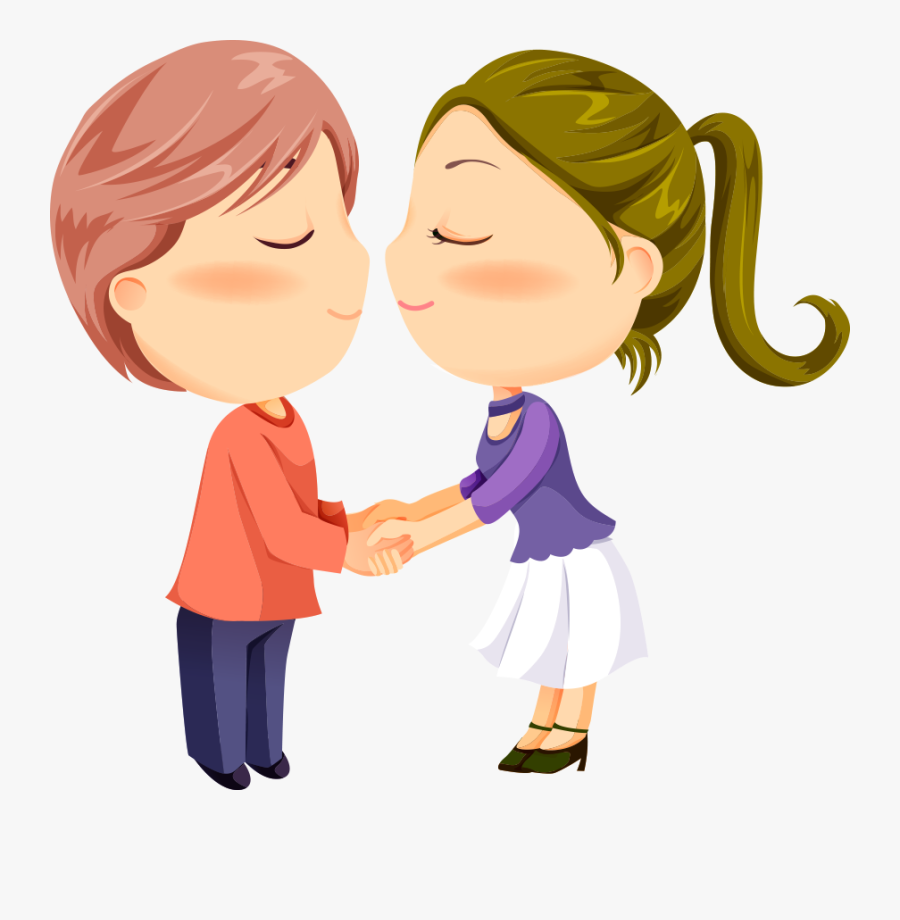 Colors Cute Zoo Animals 4 Kids Cartoon Kiss Romance - Kids Kissing Clipart, Transparent Clipart