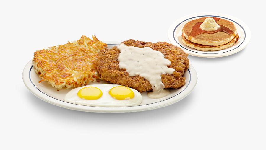Meal Clipart Chicken Fried Steak - Pancakes And Hash Browns, Transparent Clipart