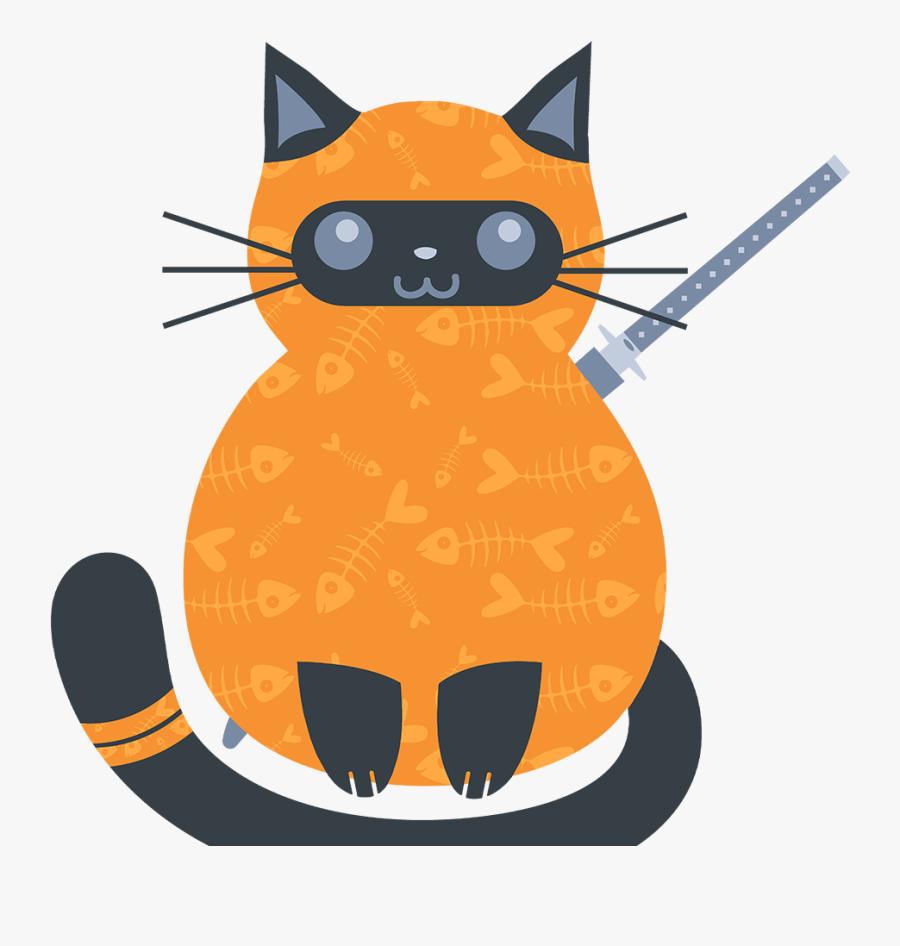Fat Cat Ninja - Fat Cat Ninja - Game For Cats, Transparent Clipart