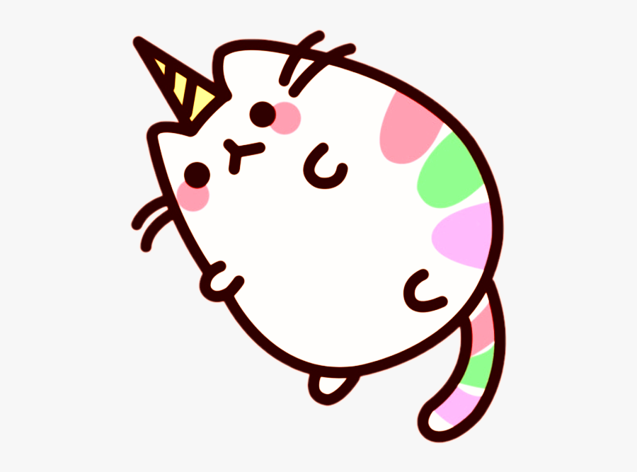 Transparent Fat Cat Clipart - Unicorn Cute Pusheen Cat, Transparent Clipart