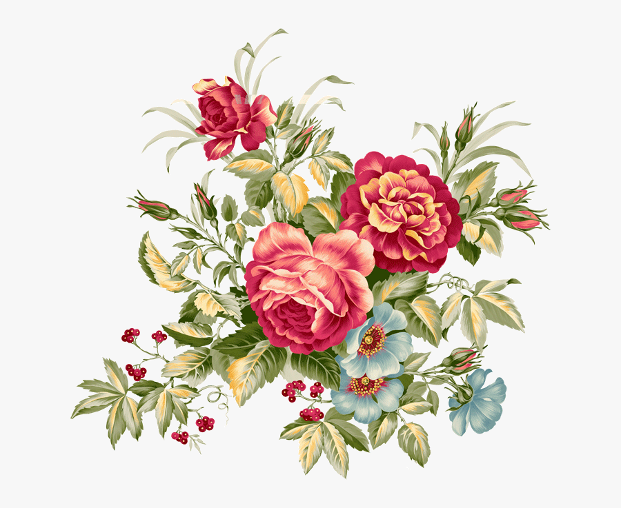 Transparent Flowers Vintage Png - Vintage Floral Pattern Png, Transparent Clipart
