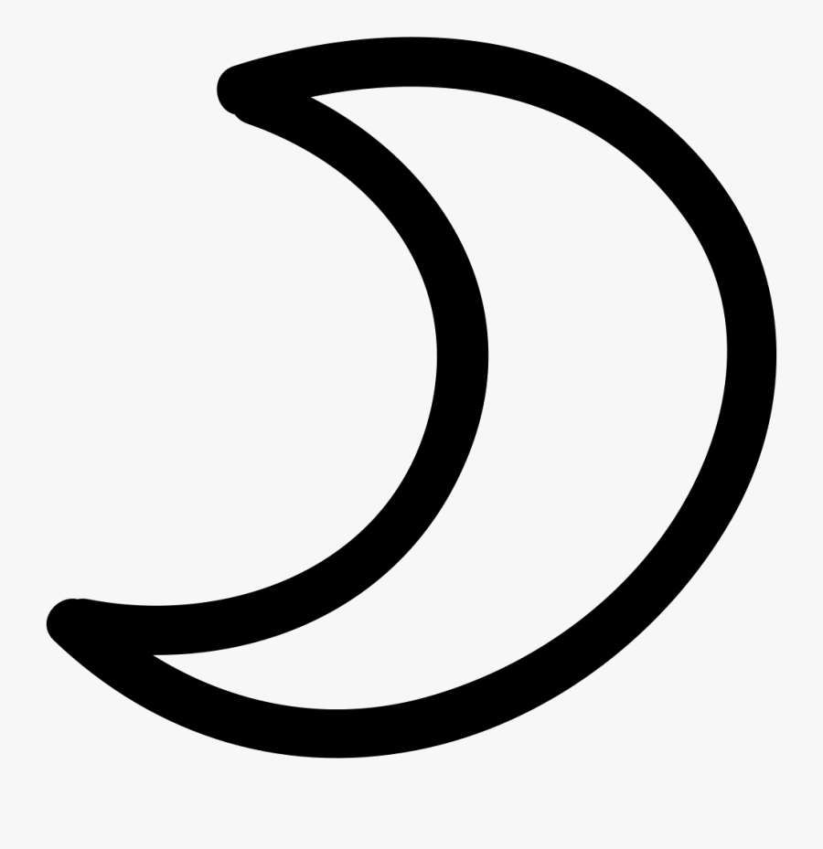 Moon Png Outline - Hand Drawn Moon Icon, Transparent Clipart