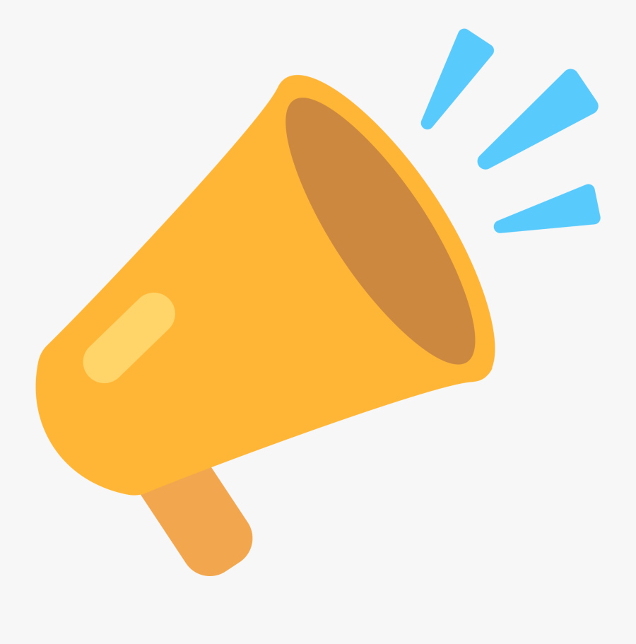 Megaphone Clipart Colorful - Transparent Megaphone Emoji, Transparent Clipart