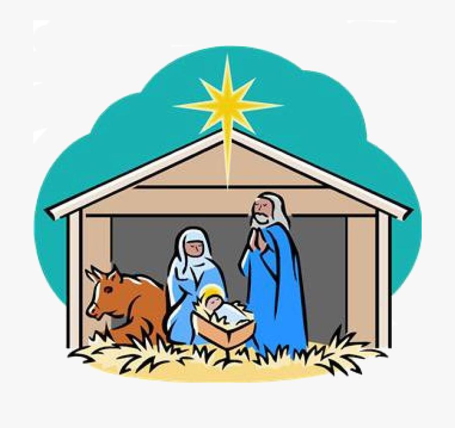 """Children""""s Christmas Program - Manger Scene Clip Art, Transparent Clipart"""