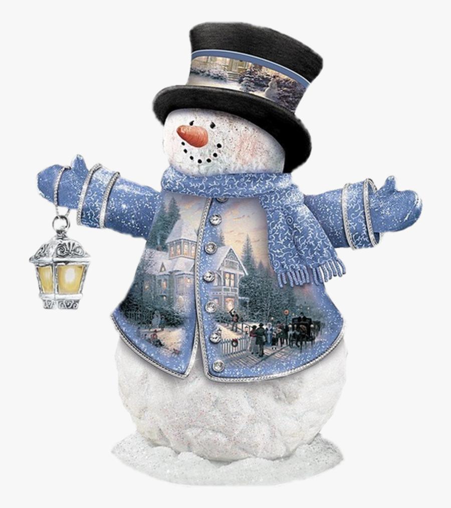 Transparent Snowman Scene Clipart - Christmas Day, Transparent Clipart