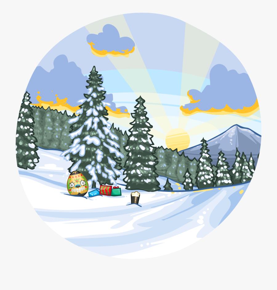 Merry Christmas Scene - Illustration, Transparent Clipart