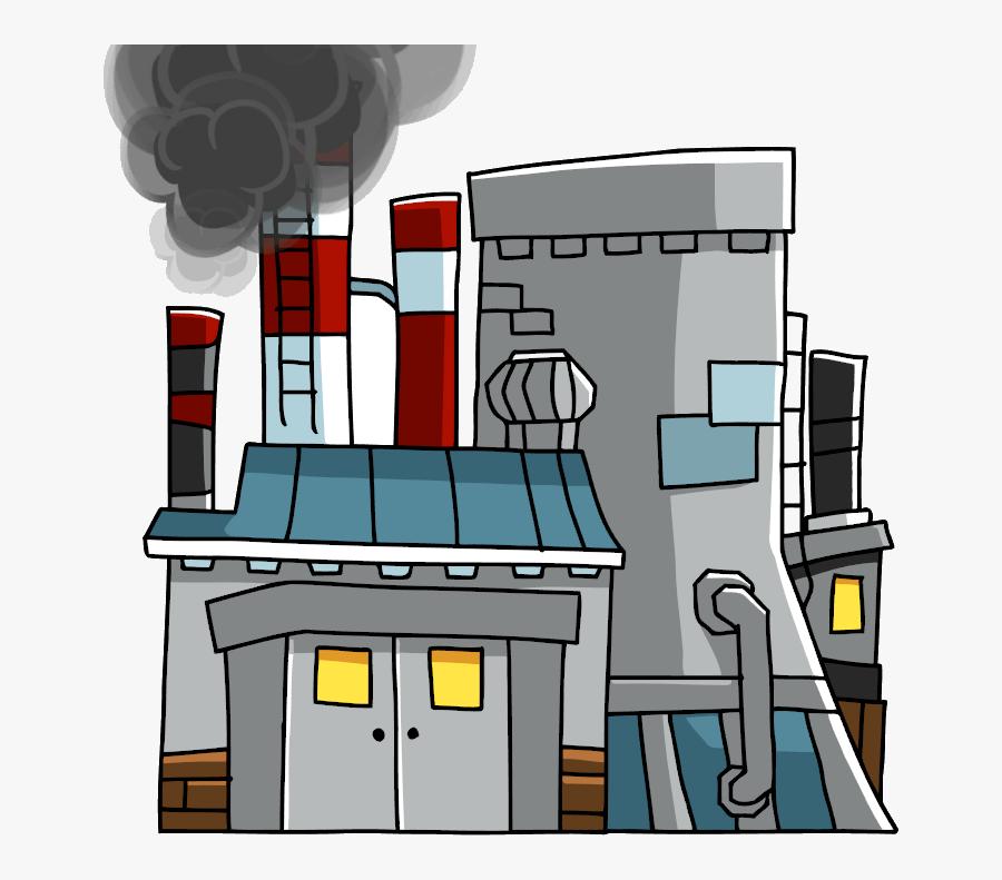 Transparent Nuclear Power Plant Clipart - Power Plant Scribblenauts, Transparent Clipart