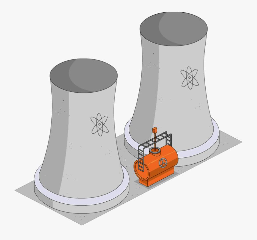Transparent Nuclear Power Plant Clipart - Coal Power Plant Diorama, Transparent Clipart