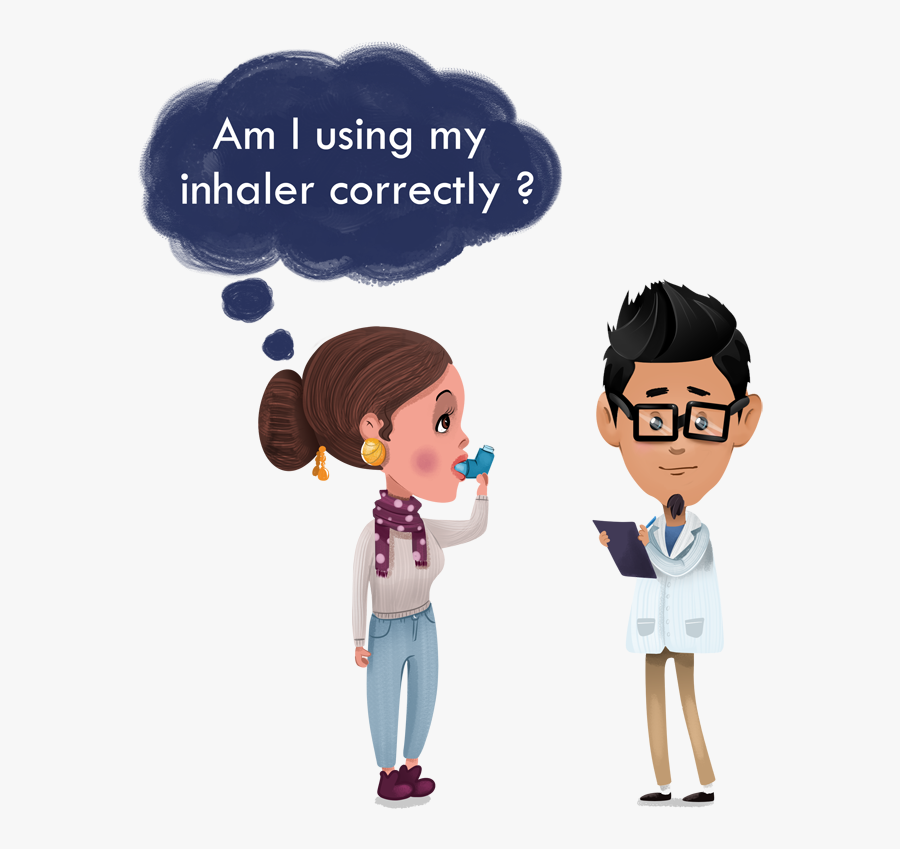 Did You Know That More Than 70 % Of People With Asthma - Cartoon, Transparent Clipart