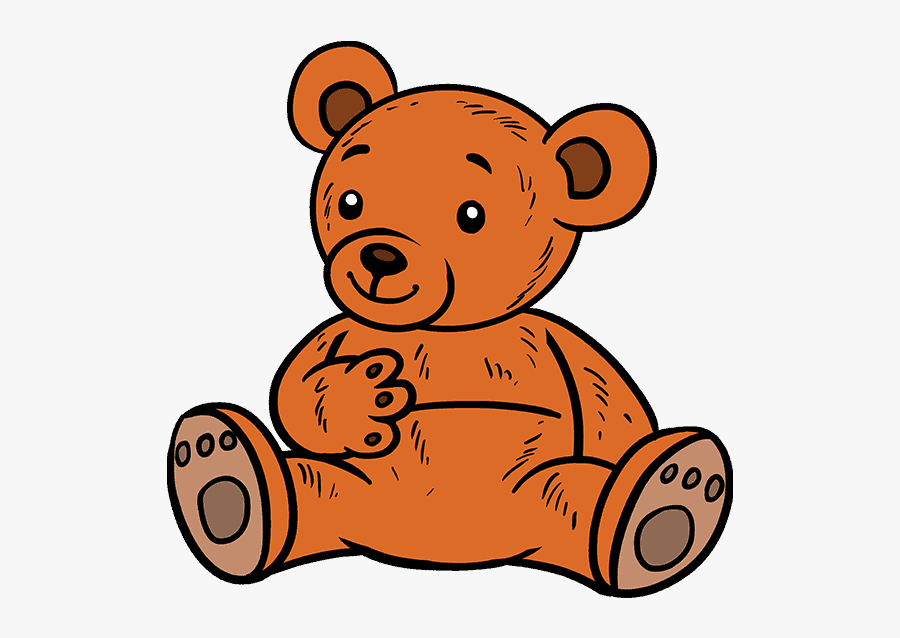 How To Draw Cartoon Bear - Teddy Bear Png Draw, Transparent Clipart