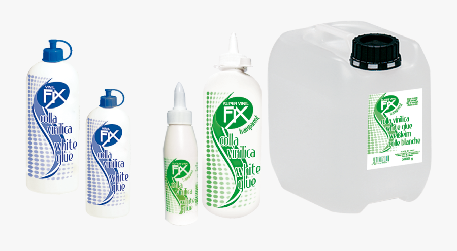 White Glue And Transparent Glue - Plastic Bottle, Transparent Clipart
