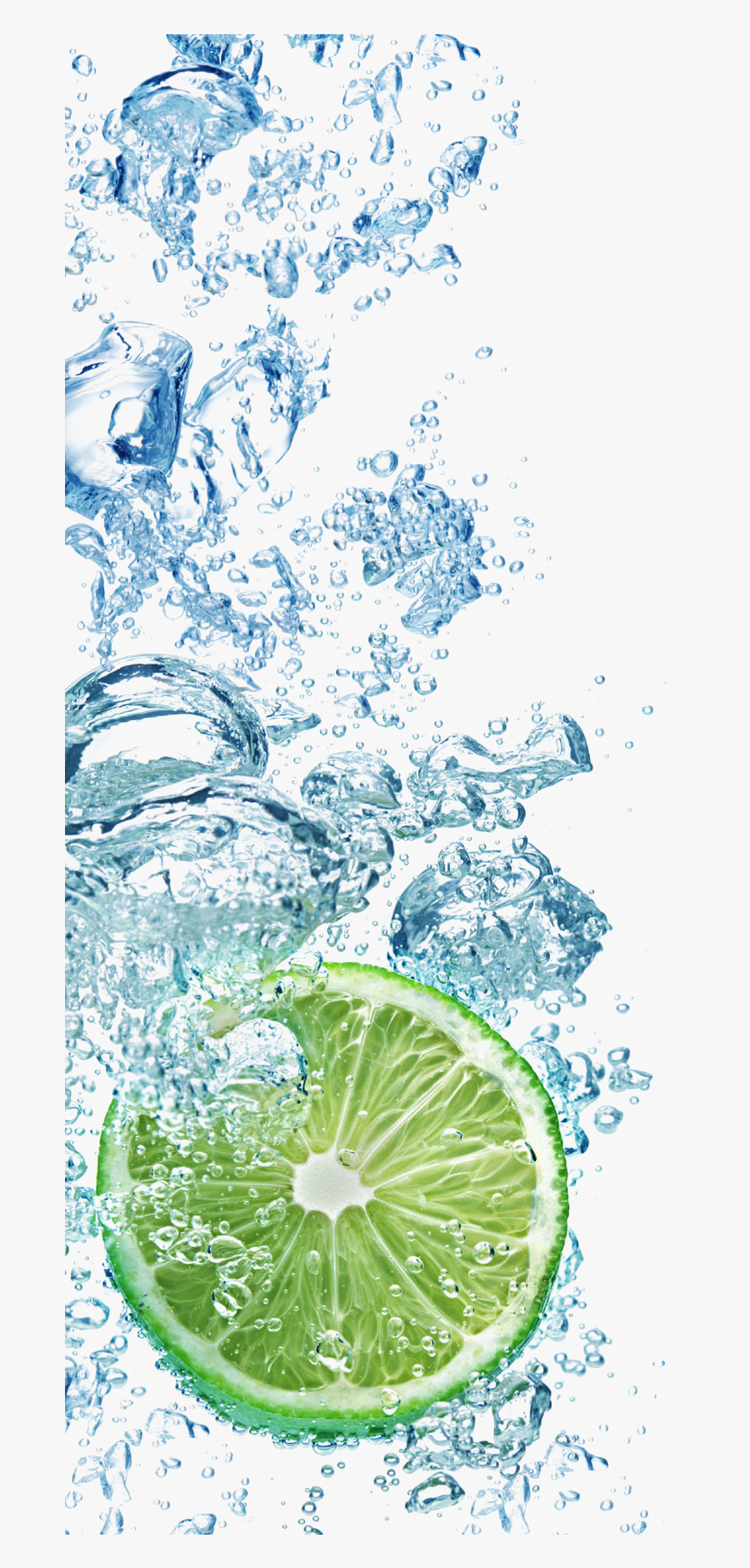 And Cubes Lemon With Tea Into Drink Clipart - Ice And Water Png, Transparent Clipart