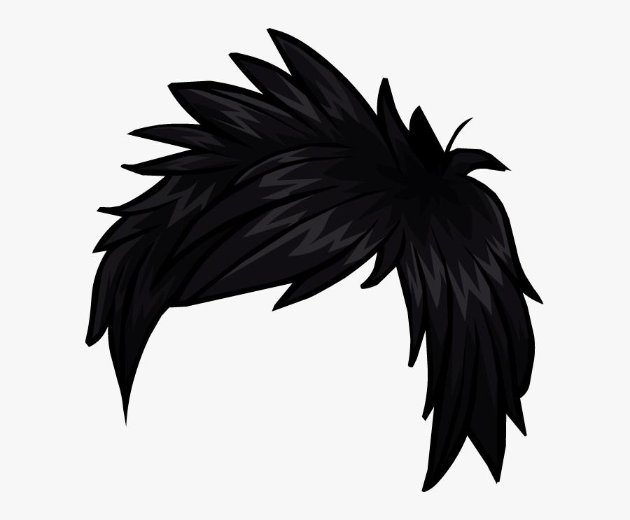 Club Penguin Hair Clip Art - Boy Anime Hair Png, Transparent Clipart