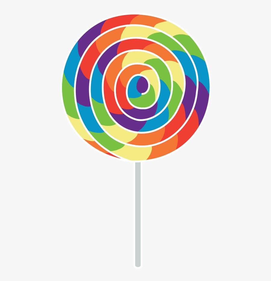 Vector Freeuse Library Rainbow Lollipops Clipart - Transparent Background Lollipop Clipart, Transparent Clipart
