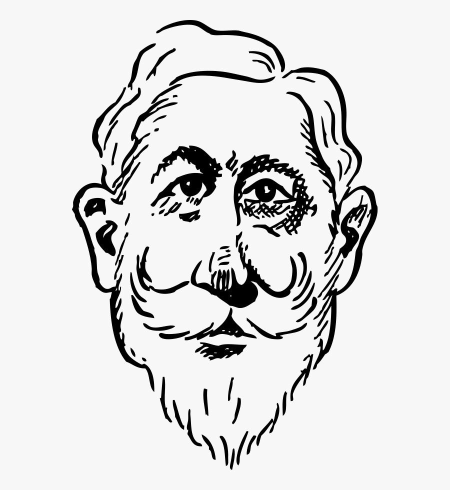 Older Kaiser Wilhelm - Old Man Face Clip Art, Transparent Clipart