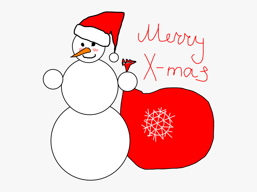 Free To Use & Public Domain Snowman Clip Art - Christmas Card Cover Clipart, Transparent Clipart