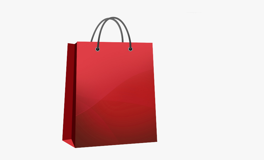 Shopping Bag Clipart Clear Background - Red Shopping Bag Png, Transparent Clipart