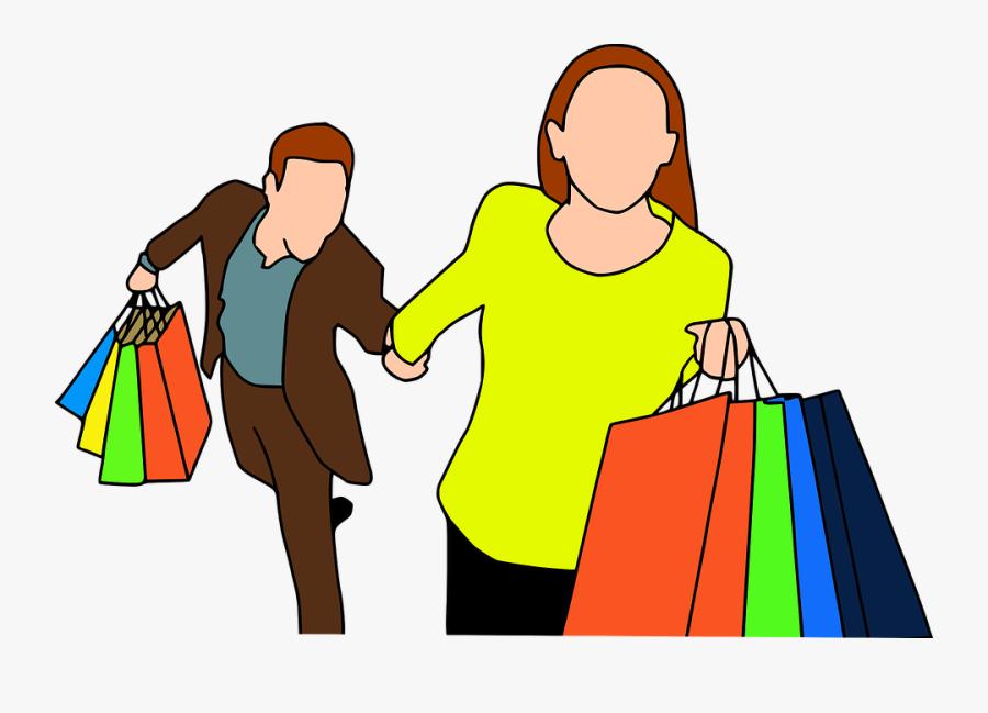 Shopping Mann Und Frau, Transparent Clipart