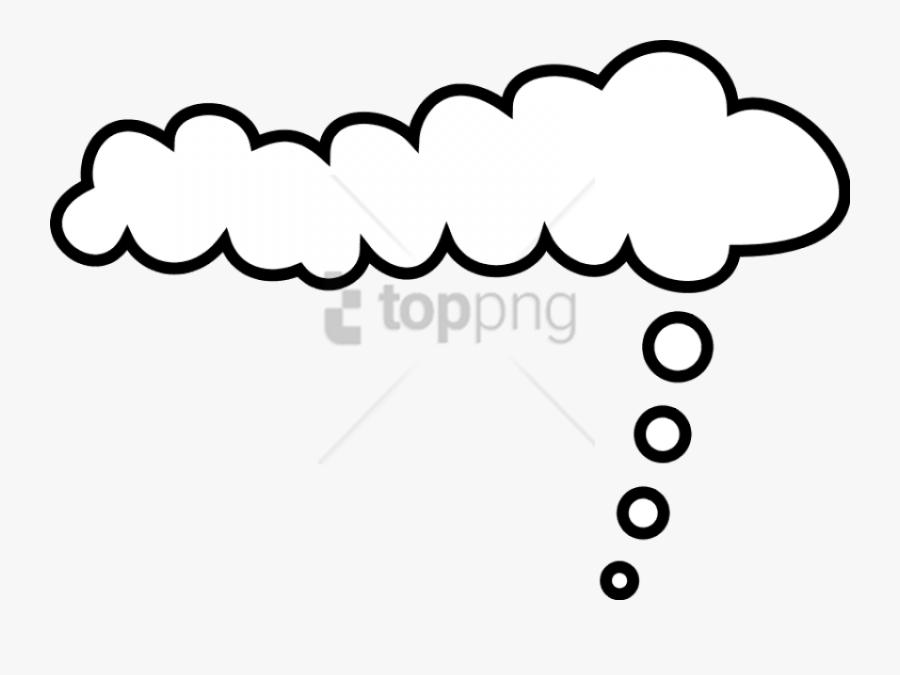 Transparent Thought Png - Comic Cloud, Transparent Clipart