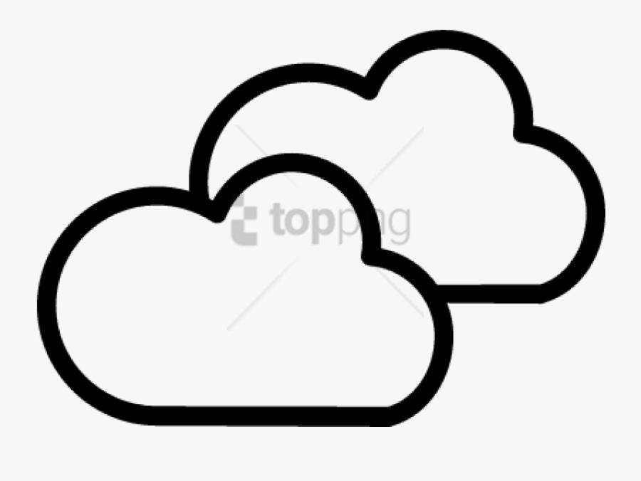 Download Weather Symbol Images Transparent Background - Cloudy Symbol Png, Transparent Clipart