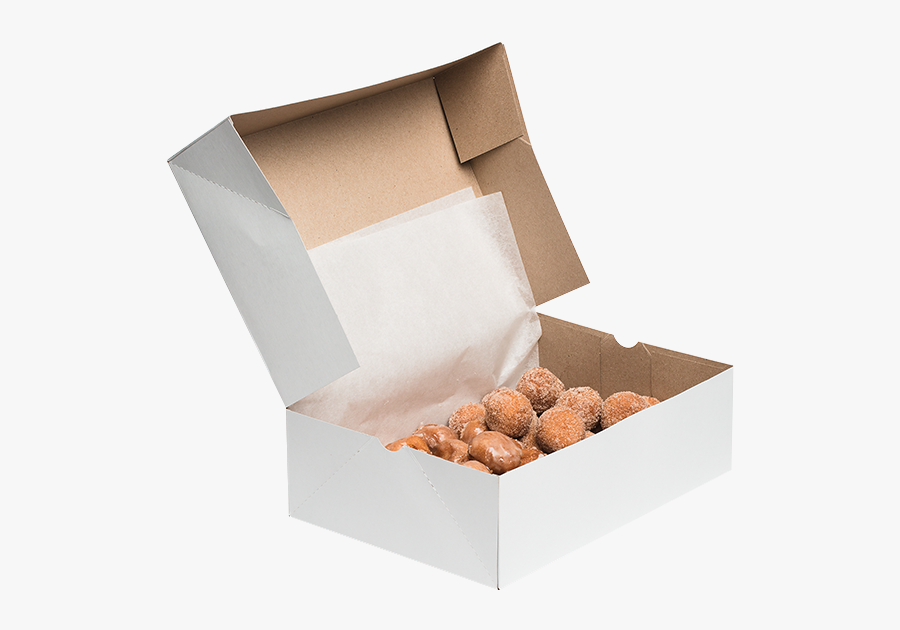 Donut Hole Box Cardigan Donuts - Clipart Box Of Donut, Transparent Clipart