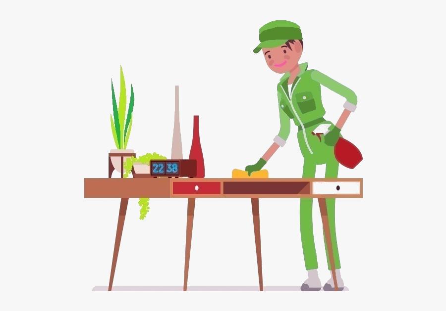 Transparent Clean Office Desk Clipart - Cartoon, Transparent Clipart