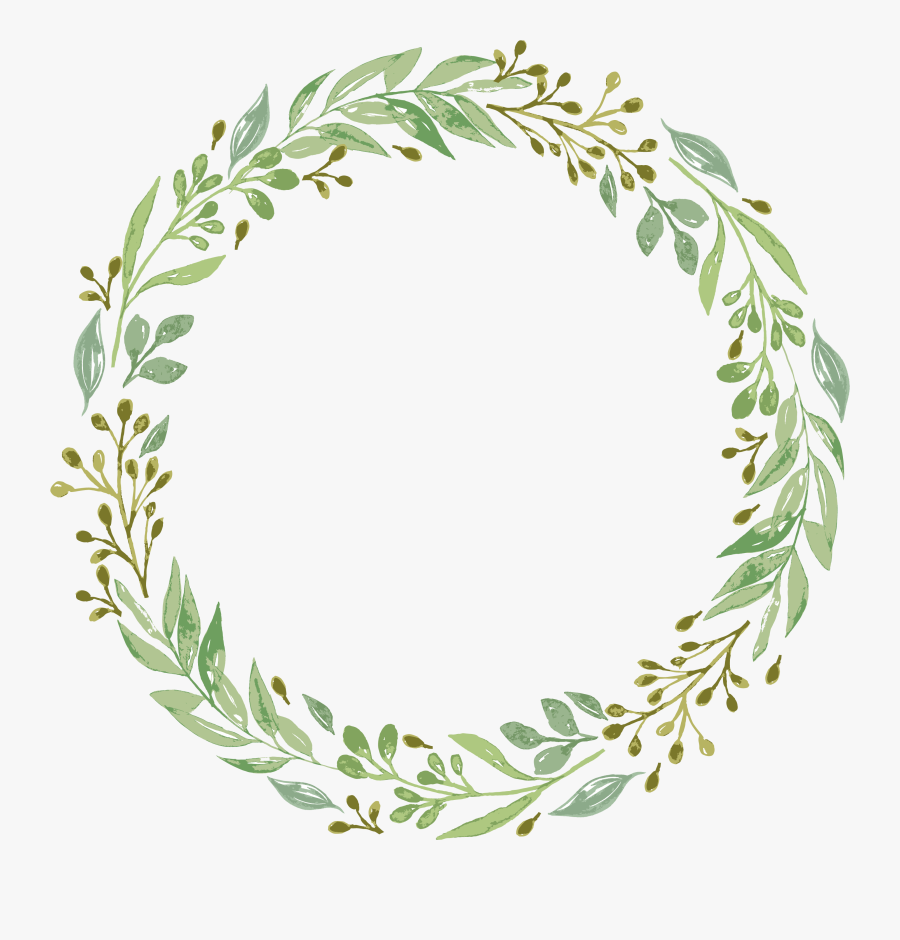 Wreath Watercolor Paper Invitation Garlands Wedding - Leaf Wreath Wreath Png, Transparent Clipart