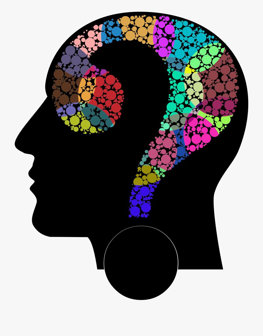 Mind Clipart Head - Colorful Brain Clipart Png, Transparent Clipart