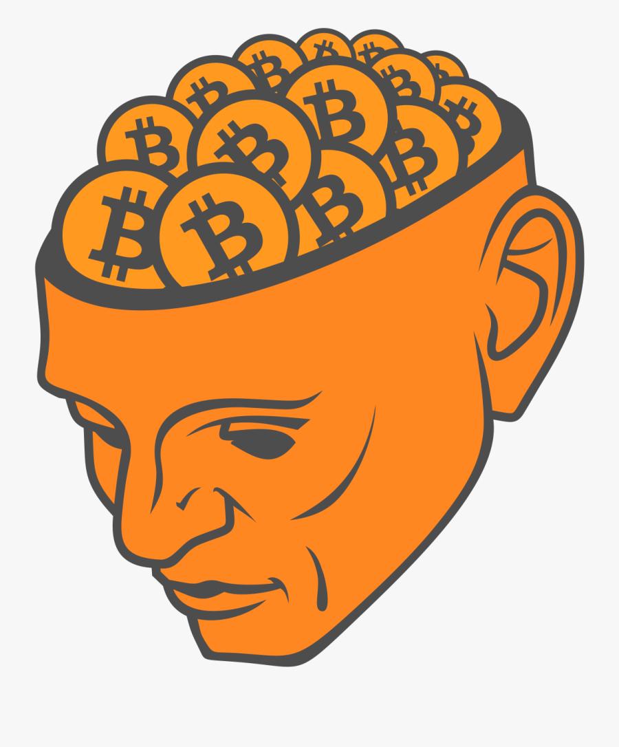Brains Clipart Orange - Bitcoin Clipart, Transparent Clipart