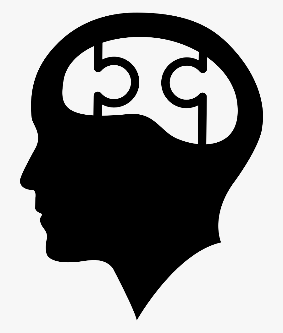 Bald Head With Puzzle Brain Comments - Brain Icon Png, Transparent Clipart
