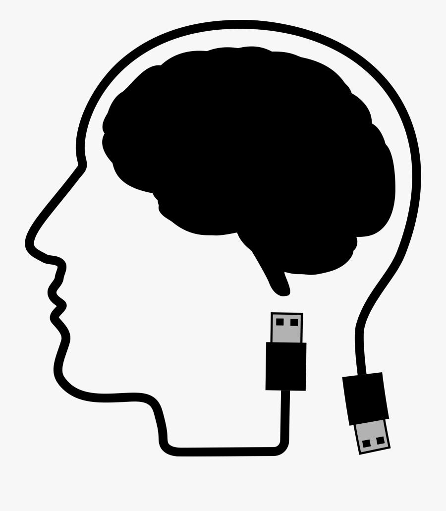 Human Behavior,silhouette,line Art - Brain And Skull Clipart, Transparent Clipart