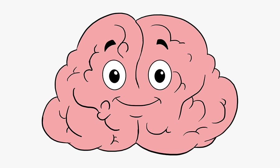 Cartoon Brain Drawing Easy, Transparent Clipart