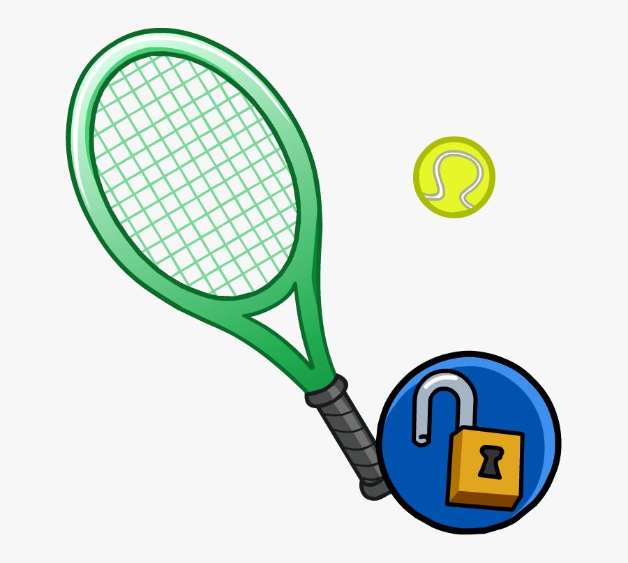 Club Penguin Wiki - Tennis Racket Free Vector, Transparent Clipart