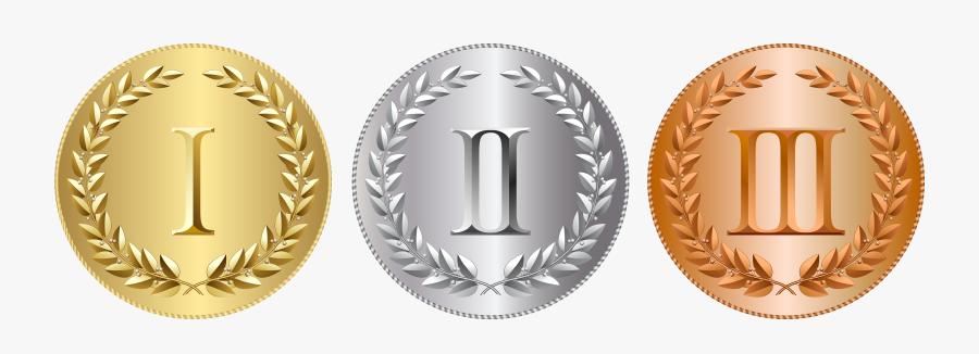 Metal Clipart School Medal - Gold Silver Bronze Png, Transparent Clipart