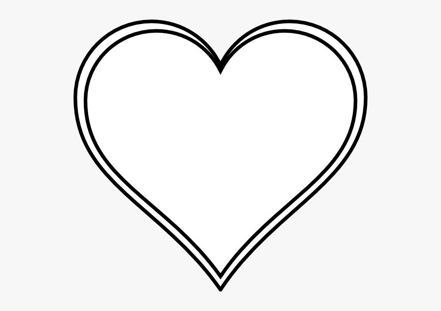 White Love Heart Vector, Transparent Clipart