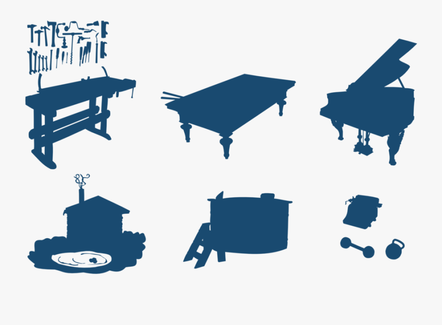 Workbench Silhouette, Transparent Clipart