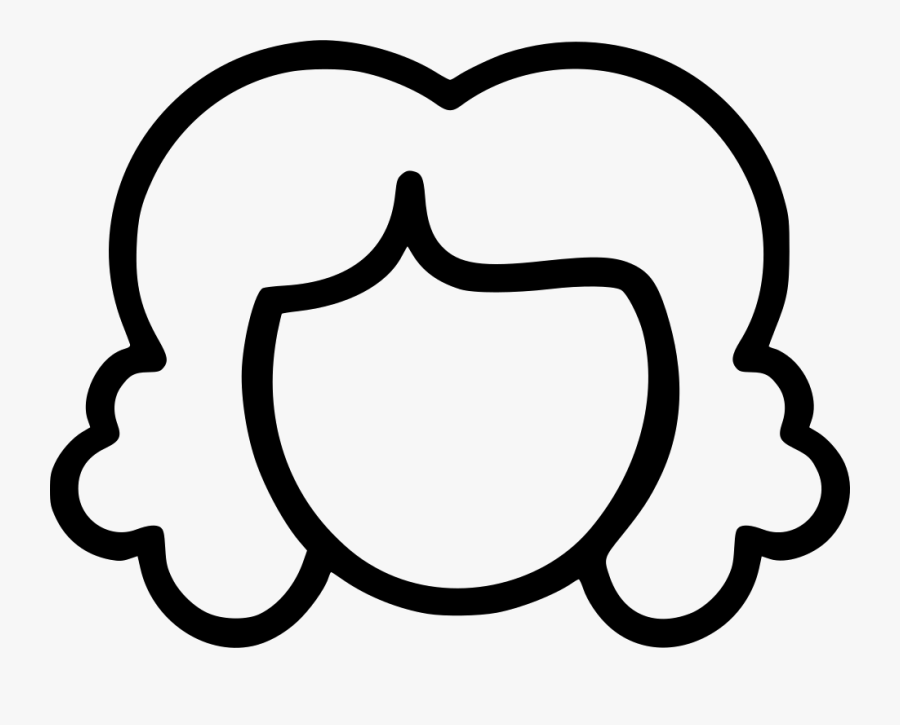 Curly Girl Hair Icon, Transparent Clipart