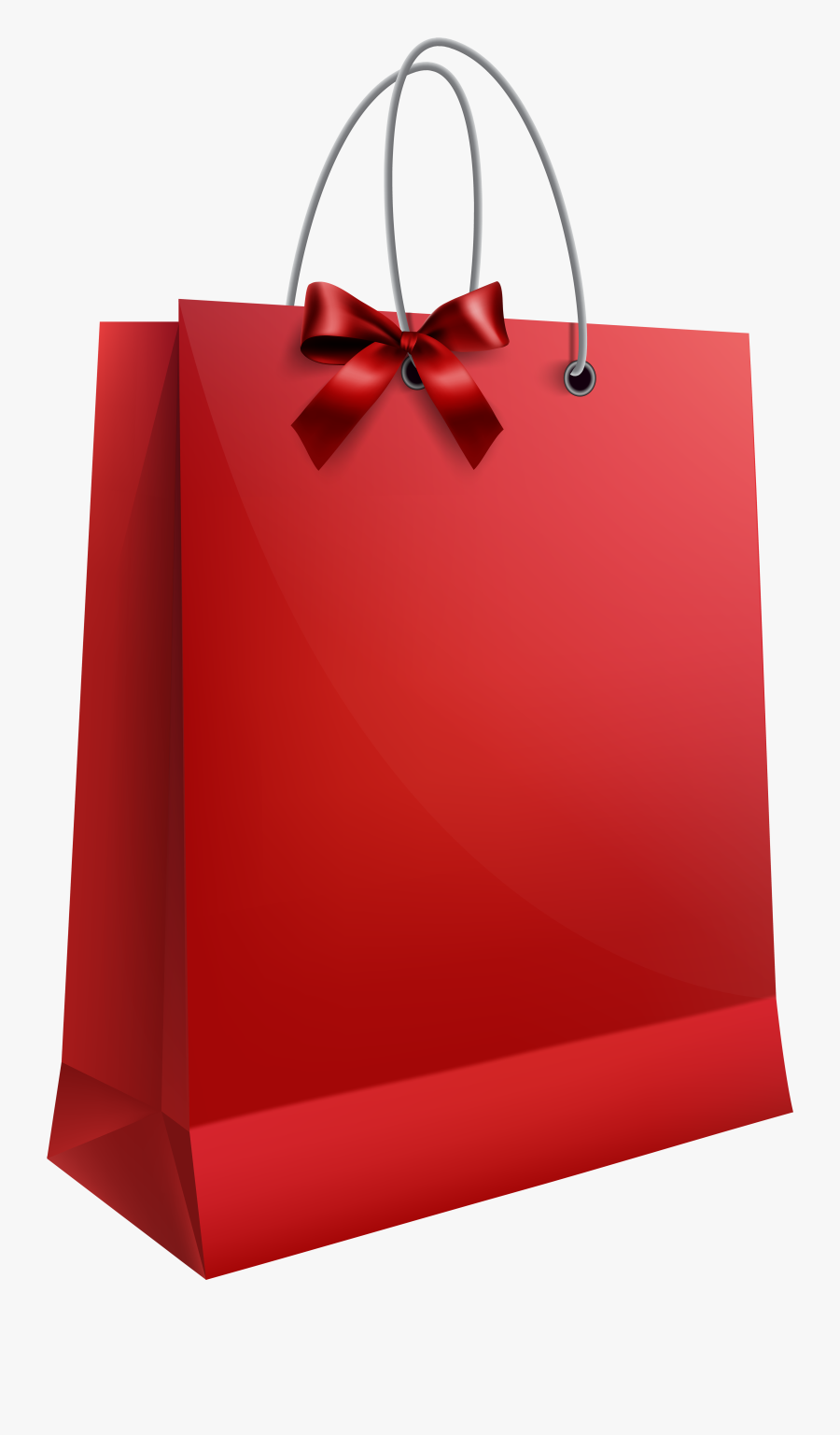 Red Gift Bag Png, Transparent Clipart