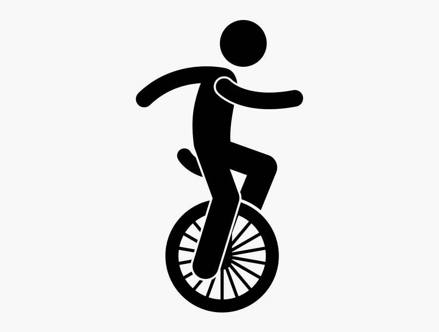 Unicycle Lineart - Varanasi Junction Railway Station, Transparent Clipart